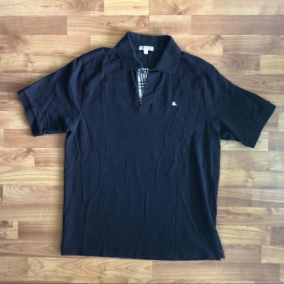 36edfa31 Burberry Shirts | Check Placket Cotton Polo Shirt | Poshmark